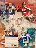 Dan Marino Signed Dolphins Quarterbacks of the Century 8x10 Photo - PSA/DNA COA
