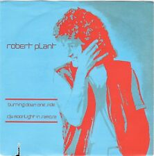 "ROBERT PLANT Burning Down One Side / Moonlight In Samosa 1982 Italian 7"" w/PS"