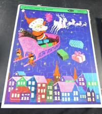 Whitman Frame Tray Puzzle 1960's Western Publishing Christmas Santa Claus