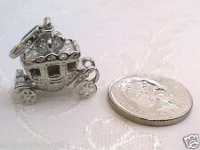 1 xFairy Tale/Princess Carriage Charm for Bracelets,Bags,Jewellery-Lobster Clasp