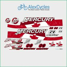 MERCURY Marine 60 HP Outboadrs Motor Canada Laminated Decals Boat Kit Stickers