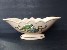 Vintage Hull Ceramic Floral With Gold Accents  Vase Centerbowl H-23-13