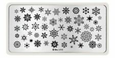 Snowflake DIY Manicure Nail Art Stamping  Stainless Steel Image Plate L056