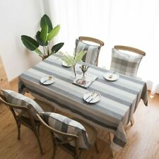 New Waterproof Table Cloth Dining Table Decoration Stripe Tablecloth Rectangular