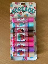 Claire's Cupcake Lip Balms Ice-Cream/Chocolate/Vanilla/Toffee/Strawberry x8