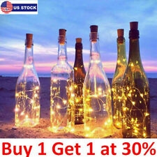 1/6 Pcs 20 Leds Wine Bottle Cork Party Wires Solar Powered Starry Fairy Lights