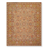 8' x 10' Handmade Wool Traditional Oriental Area rug 8x10 AOR11489 Tan