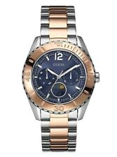 New Guess Ladies U0565L3 Round Multi Dial Stainless Two Tones Band Dress Watch