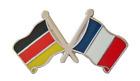 France Flag & Germany Flag Friendship Courtesy Pin Badge