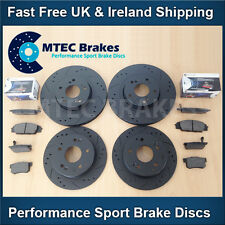 Audi TT 1.8T Quat 225bhp 99-05 Front Rear Drilled Grooved Black Brake Discs Pads