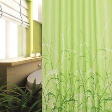 Cortina de ducha tela hierbas verde 180x200 cm incl. Anillo 180 x 200 claro