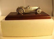 Matchbox  Jaguar SS 100 1936 métal étain argenté neuf en boite rare