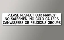 1 PLEASE RESPECT OUR PRIVACY Sticker v002