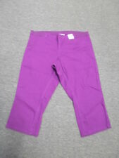 AUTOGRAPH 3/4 PURPLE BERRY STRETCH COMFORT CROP JEANS-SIZE 16-NWT REDUCED PRICE!