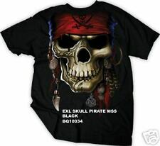 SKULL PIRATE EXILE BLACK T-SHIRT SMALL