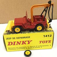 1/43 Dinky toys 1412 élastique et crochet pour Jeep dépannage DIECAST CAR MODEL