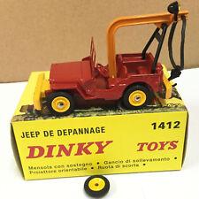 1:43 Dinky toys 1412 élastique et crochet pour Jeep dépannage DIECAST CAR MODEL
