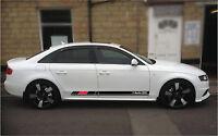 Audi A4  Side Stripes stickers