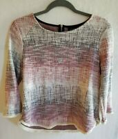 W5 Career Top Sweater Size Small Back Zipper Anthropologie Brand Career Cute EUC