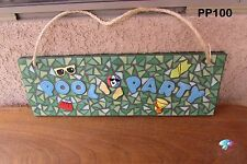 Pool Party  Mosaic House Sign HANDMADE with a lot of BEAUTIFUL THINGS  PP100