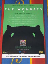 THE WOMBATS - 2017  Australian Tour - Laminated Tour Poster - ALL DATES NEW!