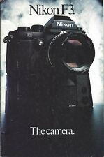 Camera Brochure - Nikon - F3 - c1982 (Cb196)