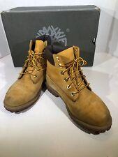 Timberland Junior 6 Inch Prem Unisex Big Kids Sz 6W Wheat Leather Boots X17-1460