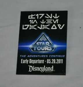 Disneyland Exclusive STAR TOURS Adventures Continue Early Departure Button