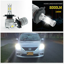 2x H4 Car LED Headlight Bulbs Two-way Heat Dissipation Low High Beam 6000K IP65