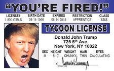 Halloween Costume Gear Donald Trump President I.D card Drivers License