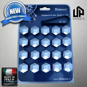 20X - 19MM HEX CHROME CAP COVERS LUG BOLTS NUT CAYENNE AUDI Q7 VW TOUAREG ITALY