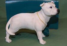 More details for white staffordshire bull terrier dog statue white staffy staffie ornament statue