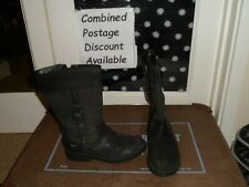 CLARKS Black/Grey Boots Size 1. School Shoes?