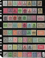 #6872     64 all different Unused pre 1930 German stamps All early Germany