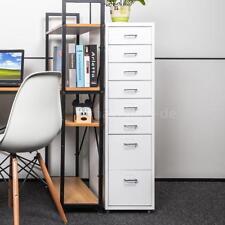 Metall Gebrauchte Büroschrank Nachttisch Aktenschrank mit 8 Schubladen Weiß F0I8