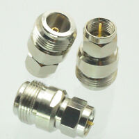 5x N-F Type N Female Jack to F Male Plug Straight Adapter