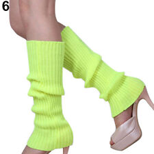 Hot Women Party Legwarmers Knitted Neon Dance 80s Costume 1980s Lady Leg Warmers