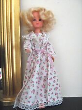Vintage Sindy Doll SWEET DREAMS Open Close Eyes Blonde Curls Nightdress and Gown