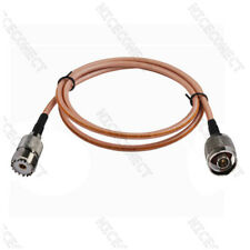 1 Meter UHF SO239 Female to N Type Plug Male Straight RG400 Coaxial Cable RF New