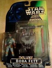 Boba Fett Deluxe with Wing-Blast Rocket Pack, firing missile nuevo embalaje original