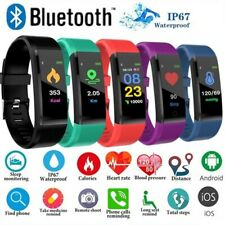 Smart Bracelet Bluetooth Sport Watch Step Calorie Counter Tracker Pedometer
