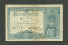 More details for portugal  1000 reis  1910  p106  vf, lt age  banknotes