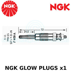 NGK Glow Plug - For Mercedes-Benz Coupe C123 Coupe 300 C Turbo D (1981-85)