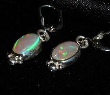 Top Brasil Crystal Opal 3.3 Karat Ohrhänger 925er Silber Unikat