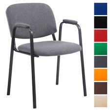Chaise visiteur KEN Pro tissu accoudoir empilable réunion fauteuil cuisine neuf