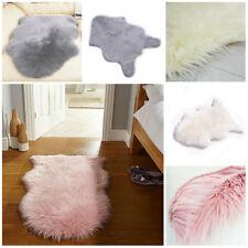 Soft Fluffy Bedroom Faux Fur Fake Wool Sheepskin Rugs Warm Hairy Carpet Seat Pad