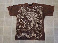 Vtg 1993 AUSTRALIA Rock Art T-SHIRT Mens S/MED Kangaroo Acid Wash Import 90s M