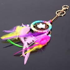 H3E# Rainbow Dream Catcher Feather Pendant Key Chain Keyring Ring Keychain Gift
