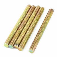 1.25mm Pitch M8 x 90mm Male Threaded Rod Bar Bronze Tone 5 Pcs