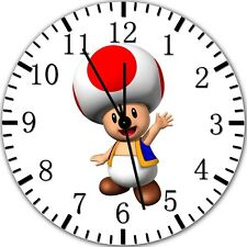 """Super Mario Toad wall Clock 10"""" will be nice Gift and Room wall Decor Z153"""